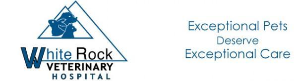 Logo for White Rock Veterinary Hospital in Pflugerville, Texas